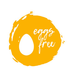 egg free label food intolerance symbols vector image vector image