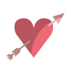 heart love with arrow romantic icon vector image vector image