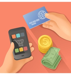 Payments flat design vector image