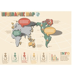 WORLD MAP INFOGRAPHICS 2 NEW STYLE vector image vector image