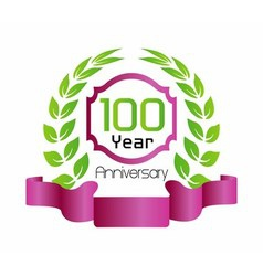 100 year birthday celebration vector
