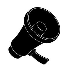 A football fan shoutfans single icon in black vector