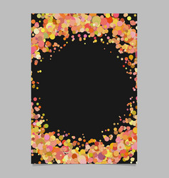 Abstract blank scattered confetti dot poster vector