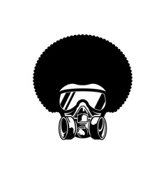 Afro man with gas mask design flat vector