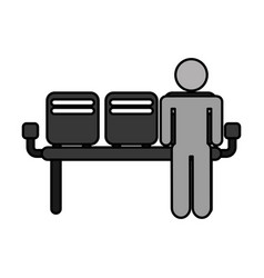 Airport waiting room icon vector