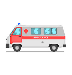 Ambulance service van emergency medical vehicle vector