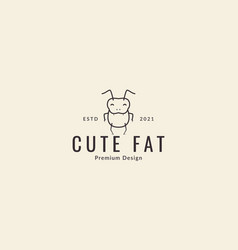 Animal insect beetle lines cartoon cute happy vector