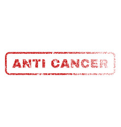anti cancer rubber stamp vector image