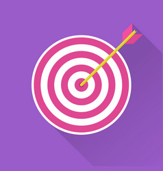 archery target with arrow hit vector image
