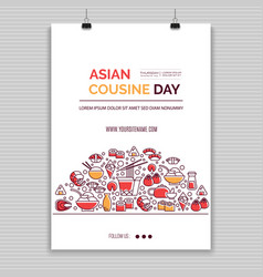 Asian food templates vector
