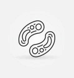 bacterias outline concept icon or sign vector image