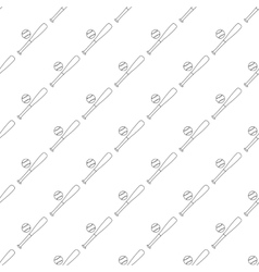 Baseball pattern seamless vector image