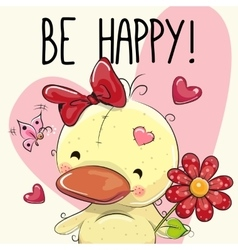 Be Happy Greeting card vector
