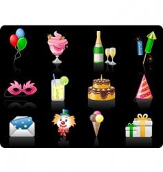 Birthday black background vector