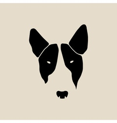 Bull terrier face Dog head vector