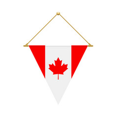 canadian triangle flag hanging vector image