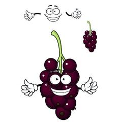 Cartoon bunch of currant berries vector image