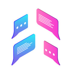 chatting box empty icons set vector image