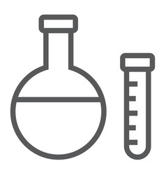 chemistry line icon school and education vector image