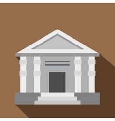 Colonnade icon flat style vector