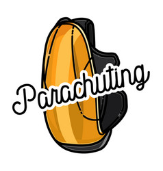 Color vintage parachuting emblem vector