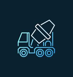 Concrete mixer truck concept colorful vector