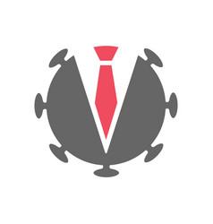 Covid entrepreneur logo template corona virus vector