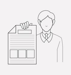 Design brief icon line element vector
