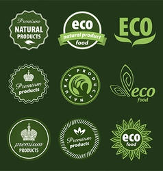 Eco logo vector