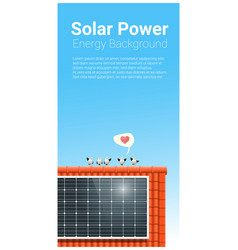 Energy concept background with solar panel 6 vector