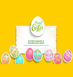 festive template poster eggs vector image