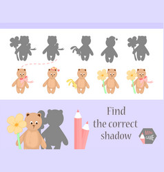 find the correct shadow education game for vector image