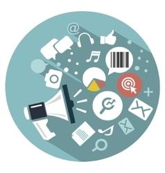 Flat icon Web marketing vector