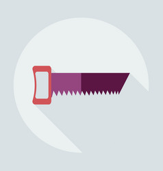 Flat modern design with shadow icons saw vector