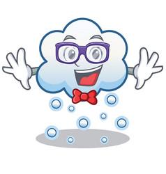 Geek snow cloud character cartoon vector