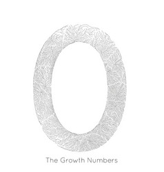 generative branch growth number 0 lichen vector image