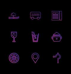 Glass navigation calculator multimedia camera vector