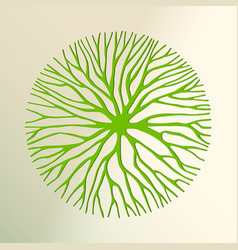 green tree paper cut for environment concept vector image