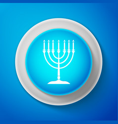 hanukkah menorah icon hanukkah traditional symbol vector image
