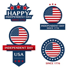 Happy Independent day badge and labels vector image