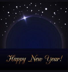 Happy new year blue background magic rain and vector