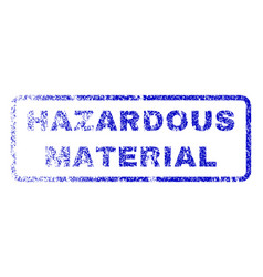 Hazardous material rubber stamp vector