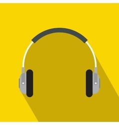 Headphones icon in flat style vector