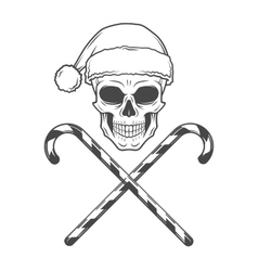 Heavy metal Christmas with candy canes design Bad vector image