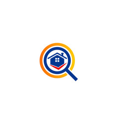 house search realty logo vector image