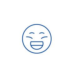 laughing emoji line icon concept laughing emoji vector image