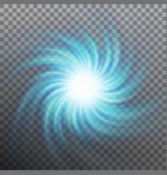 Lightning blue vortex effect object eps 10 vector