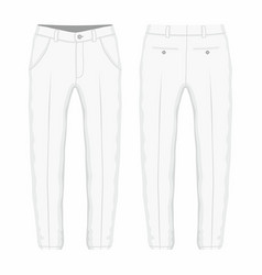mens white trousers vector image