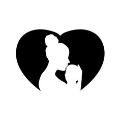 mother and her child logo vector image
