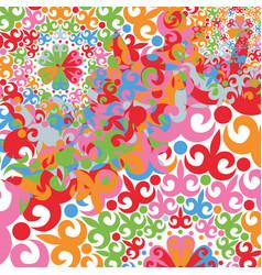 Multicolored circular patterns vector